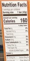 Peanut and date bar - Nutrition facts - en