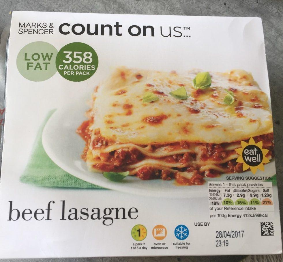 Beef Lasagne - Produit