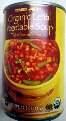 Organic lentil vegetable soup - Product - en
