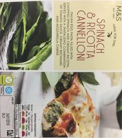 Spinach and Ricotta Cannelloni - Produit