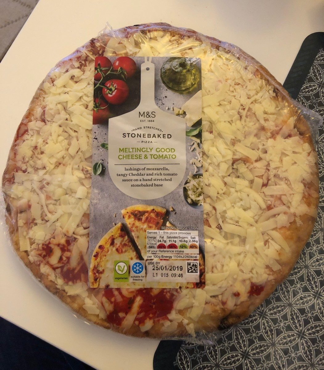 Pizza Stonebaked Cheese Tomata Marks Spencer