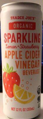 Sparkling Lemon & Strawberry Apple Cider Vinegar Beverage - Product - en