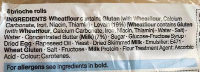 8 Brioche Rolls - Ingrediënten - en