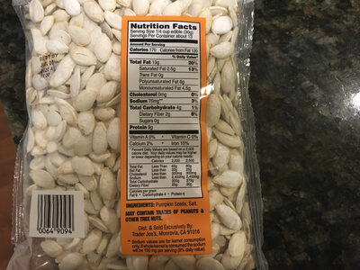 In Shell Pumpkin Seeds - Nutrition facts