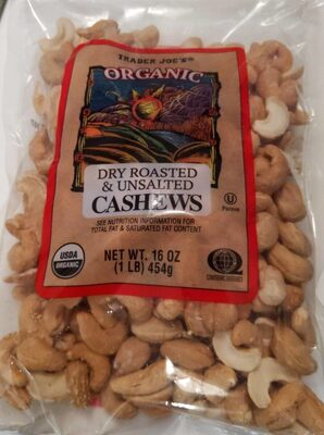 Dry Roasted & Unsalted Cashews - Product