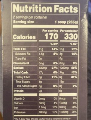 Pappa al Pomodoro Tuscan Soup - Nutrition facts - fr