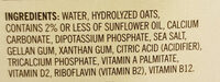 Non Dairy Oat Beverage - Ingredients - en
