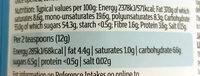 Milk chocolate spread - Valori nutrizionali - en