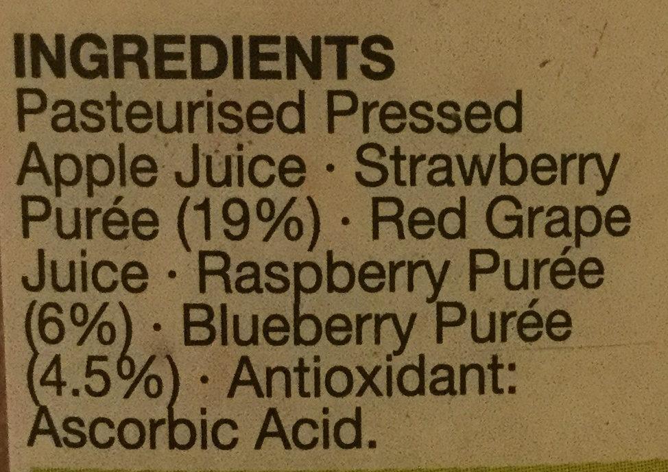 Berry Medley - Ingrediënten - en