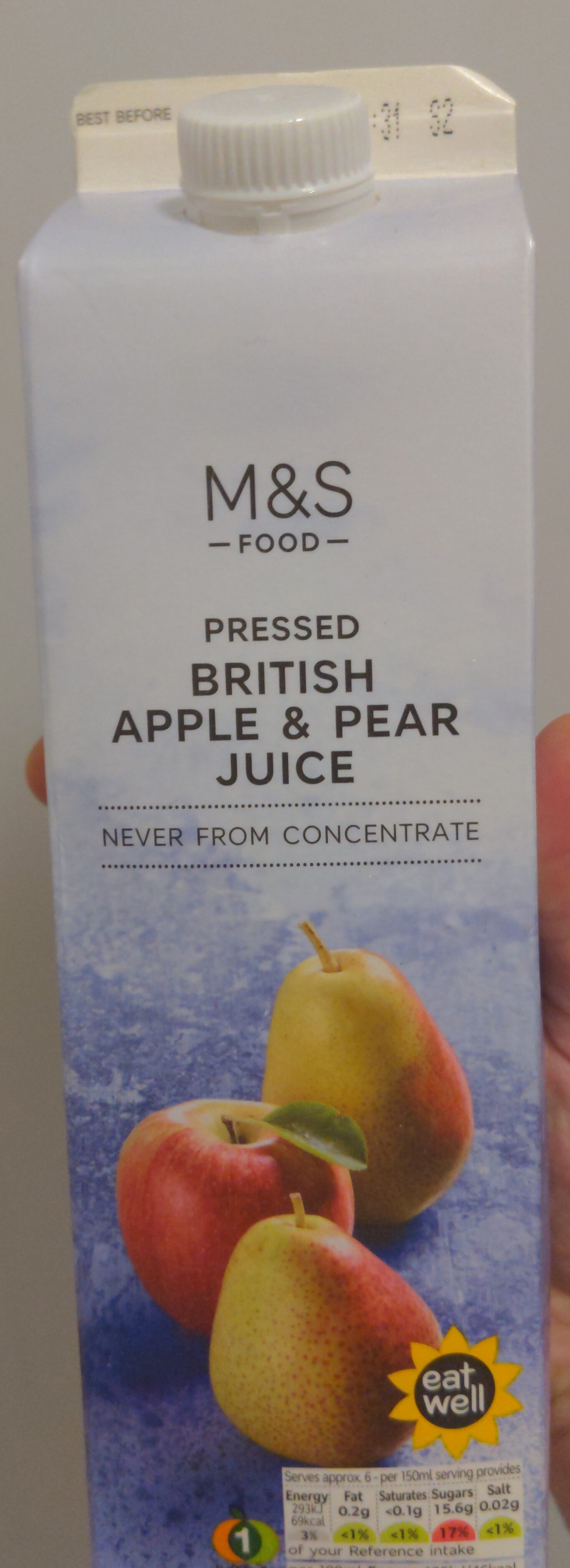 Pressed British Apple & Pear Juice - Product - en