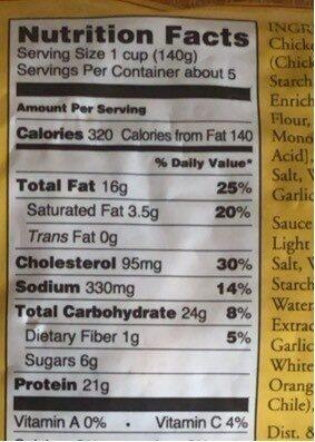 Mandarin Orange Chicken - Nutrition facts - en