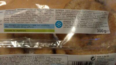 Cinnamon ans raisin bagels - Nutrition facts - fr