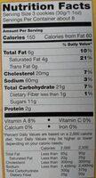 Belgian waffle cookies - Nutrition facts - en