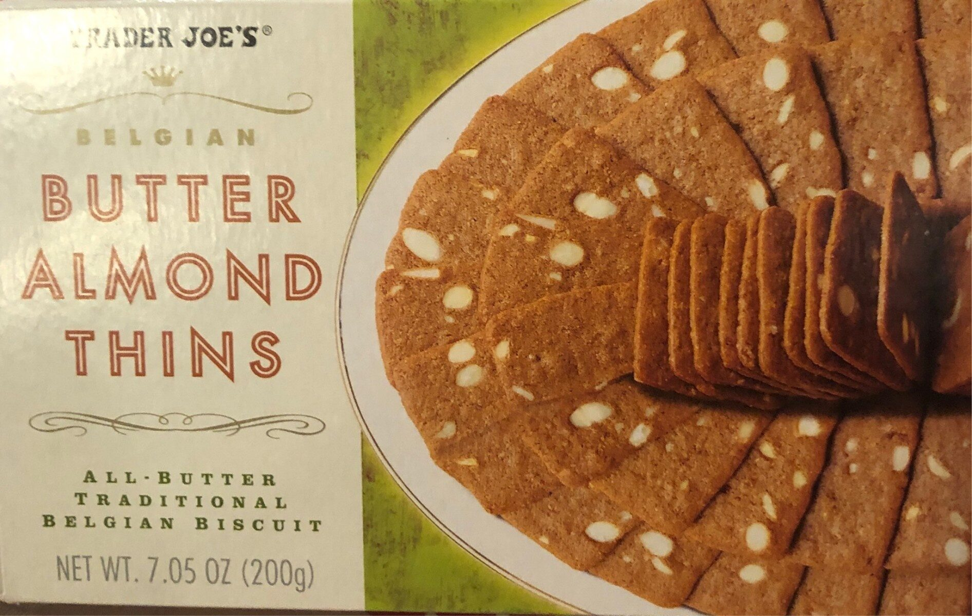 Trader Joes Belgian Butter Almond Thins - Product - en