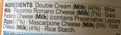 Four Cheese Pasta Sauce - Ingredients - en