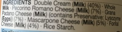 Four Cheese Pasta Sauce - Ingrédients