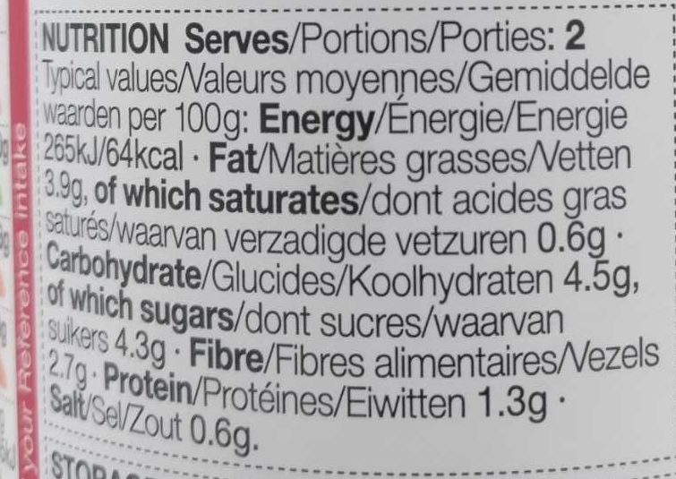 Tomato & Basil Pasta Sauce - Nutrition facts - en