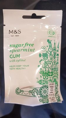 Sugar free spearmint gum - Product