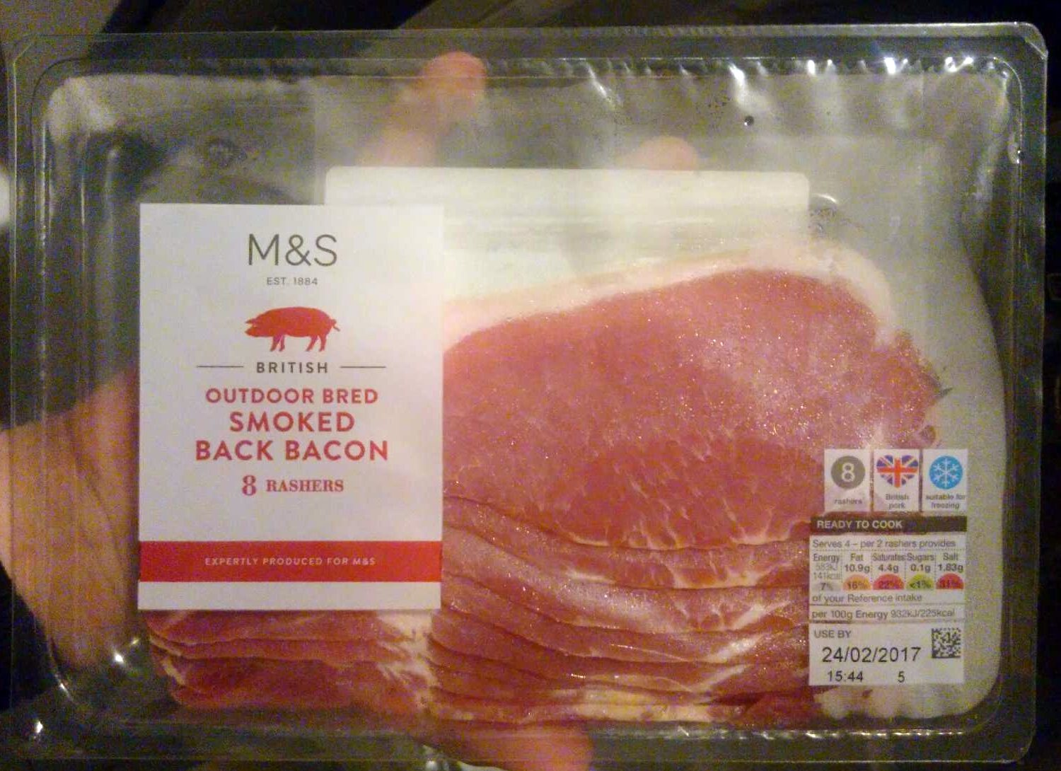 Outdoor Breed Smoked Back Bacon - Product - fr
