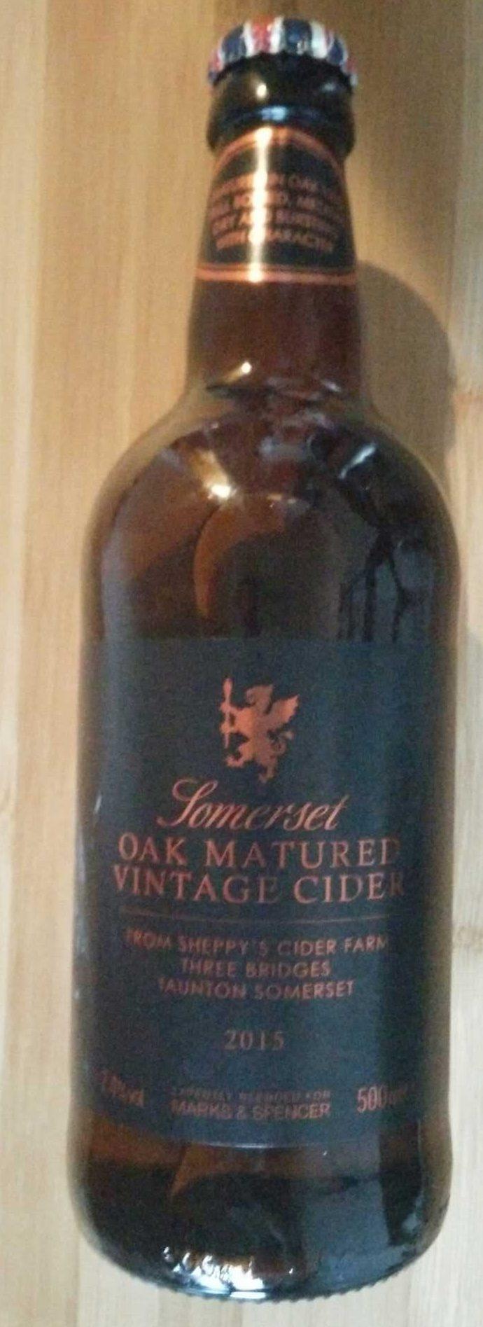 Sommerset Oak Matured Vintage Cider 2015 - Product