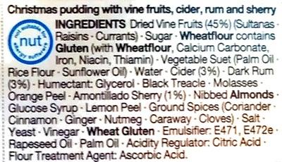 Christmas Pudding - Ingrediënten - en