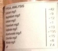Glen Brae Still Scottish Mountain Water - Nutrition facts