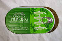 Kipper Fillets Wild Caught Smoked Herring in Canola Oil & Juices - Product - en