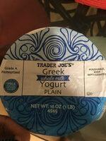 Trader Joe's Greek yogurt plain - Product