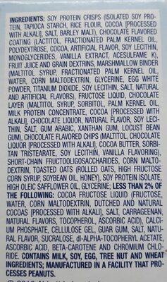 Glucerna Nutrition Bars Crispy Delights Chocolate Chip - 4 CT - Ingrédients - en