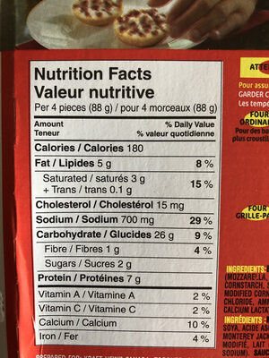 BagelBites - Nutrition facts - fr
