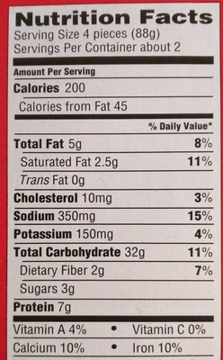 Ore ida, bagel bites, mini bagels, three cheese, three cheese - Nutrition facts - en