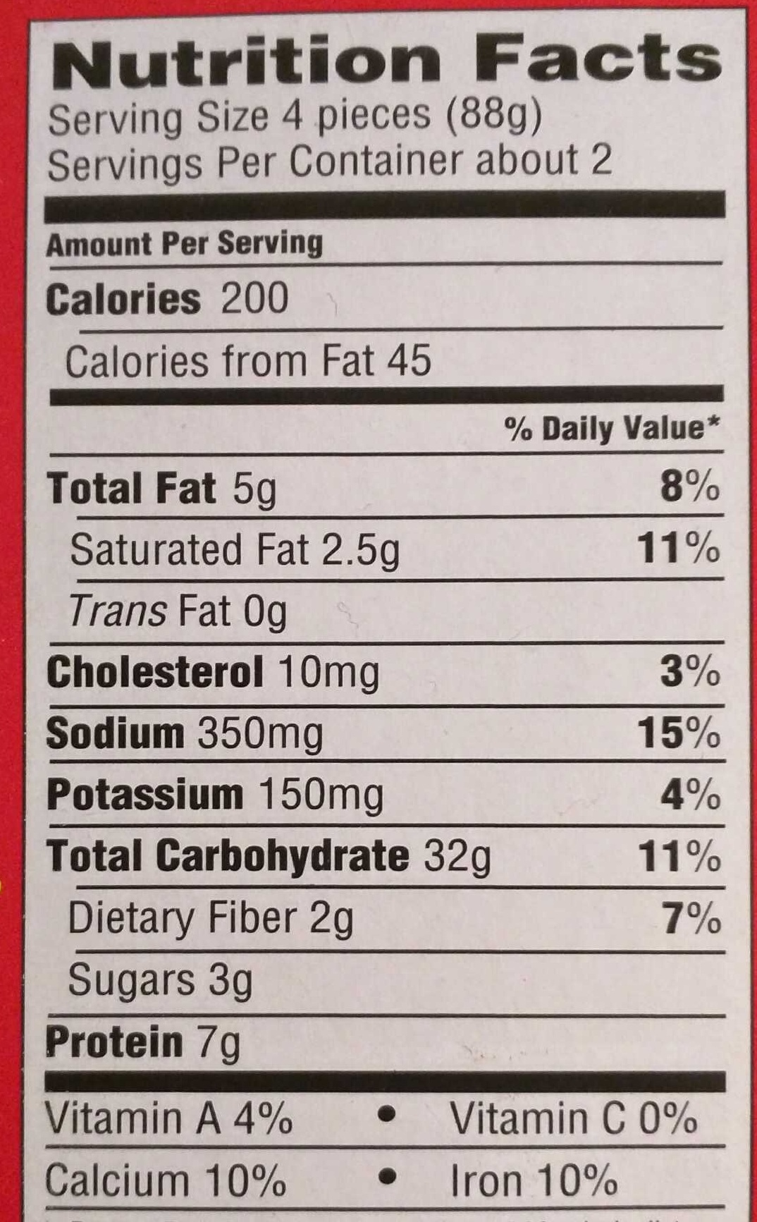 Bagel Bites Three Cheese - Nutrition facts