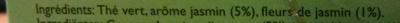 Thé vert au Jasmin Twinings - Ingrediënten