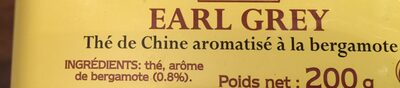 The Original Earl Grey - Ingrediënten - fr