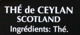 Thé de CEYLAN - Ingredienti - fr