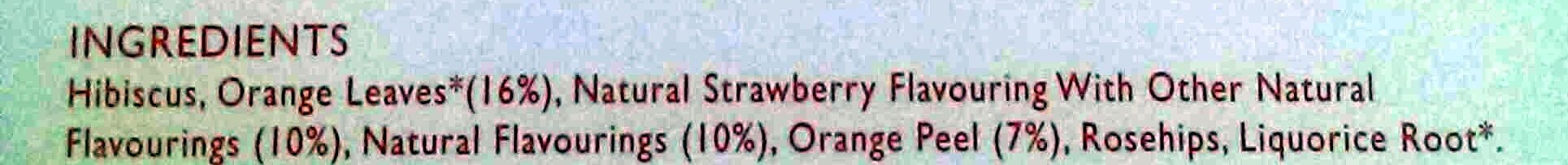 Mango & Strawberry tea - Ingredients