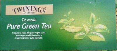 Tè verde - Valori nutrizionali