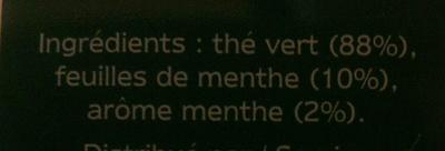 Twinings Thé vert menthe - Ingredients - fr