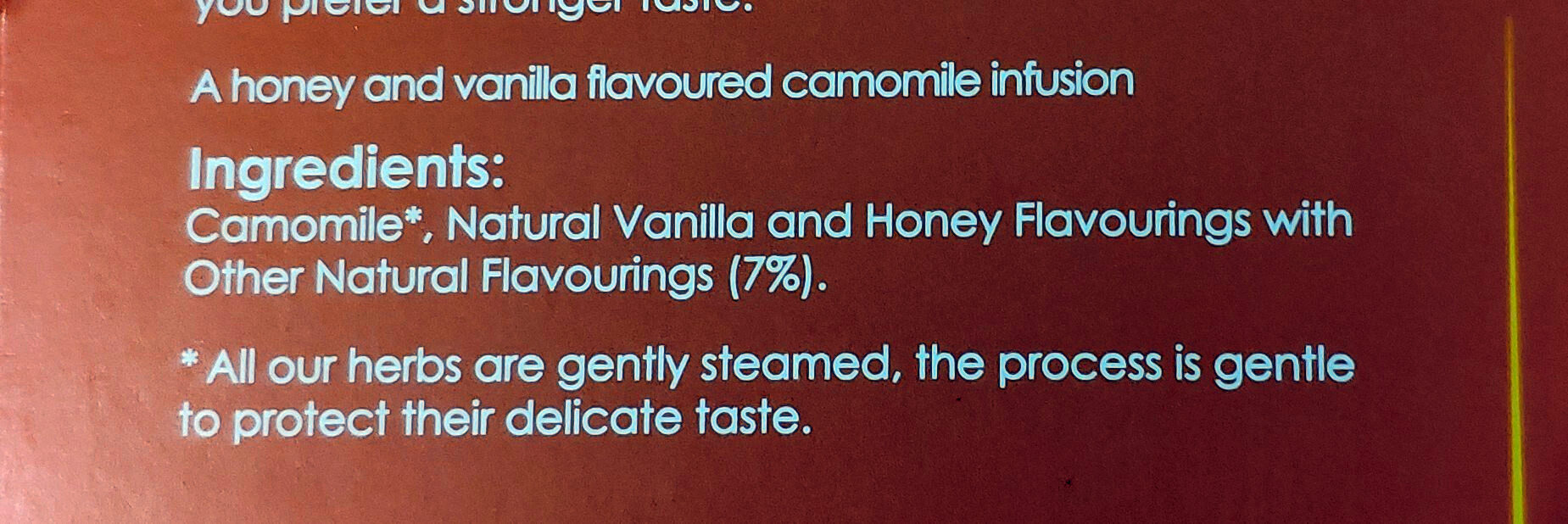 Camomile & Honey Tea - Ingredienti - en