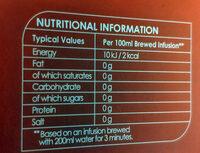Camomile & Honey Tea - Valori nutrizionali - en