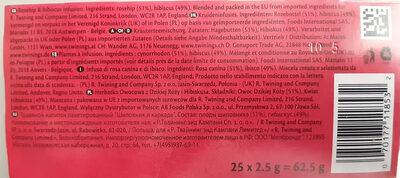 Twinings Rosehip & Hibiscus - Ingredients - it