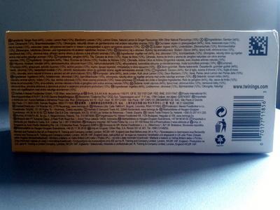 Twinings Infusions Lemon & Ginger - Ingrediënten