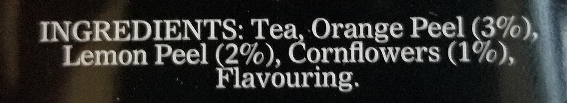 Tea Lady Grey - Ingrédients - ro