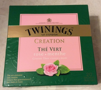 Création thé vert rose et menthe - Produit - fr