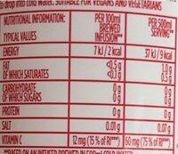 Cold infuse - Valori nutrizionali - en
