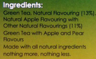 Twinings apple & pear green tea - Ingredients