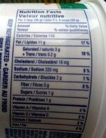 Trempette pour légumes - Informations nutritionnelles - fr