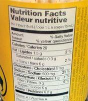 Medium wing sauce - Nutrition facts - fr