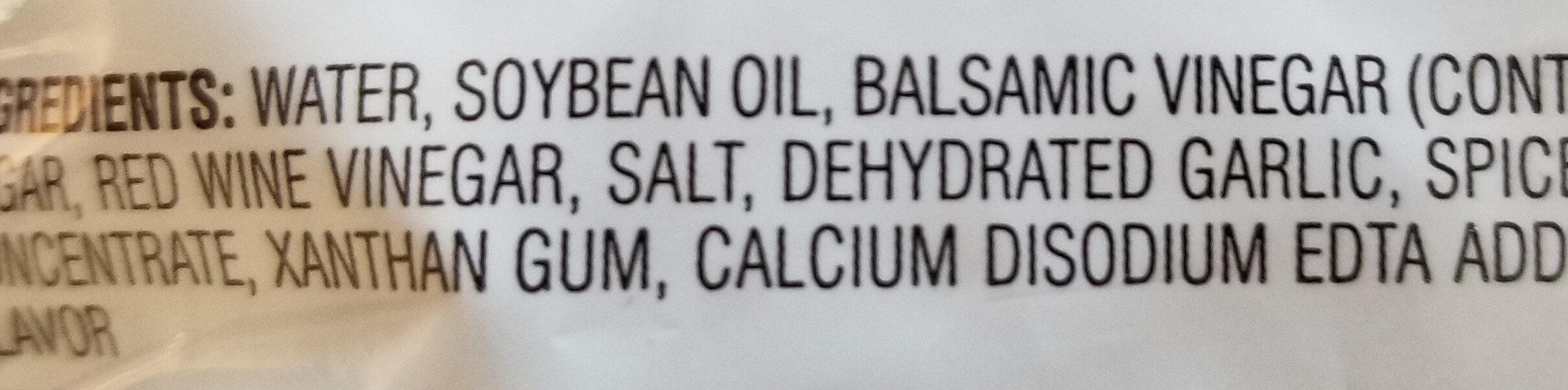 Gluten free balsamic vinaigrette - Ingredients - en