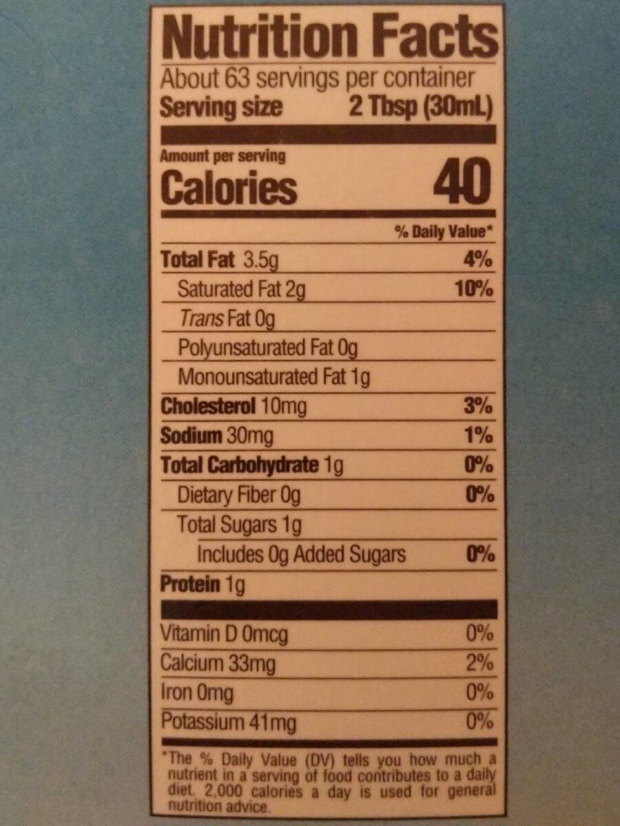 Half & Half - Nutrition facts - fr